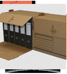 Caja de cartón para archivo